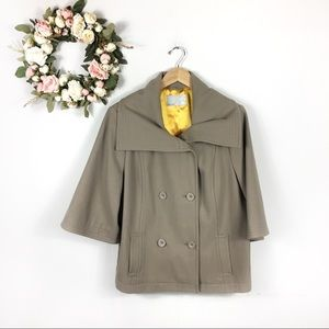 Old Navy Wool Blend Pea Coat Cropped Bell Sleeve